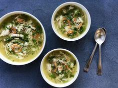 Chicken Coriander Soup Instant Pot Recipes - One pot rezepte Vegetarian Soup, Healthy Soup, Paleo Soup, Instant Pot Pressure Cooker, Pressure Cooker Recipes, Pressure Cooking, Slow Cooker, Lemon Coriander Soup, Soup Recipes