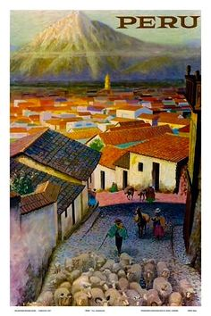 Peru Arequipa Village South America Vintage World Travel Art Poster Print Tourism Poster, Poster S, Poster Prints, Vintage Travel Posters, Vintage Ads, Retro Posters, Art Posters, Vintage Stuff, Travel Ads