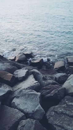 Water and Rocks / Find more Nature themed wallpapers for your #iPhone + #Android @prettywallpaper