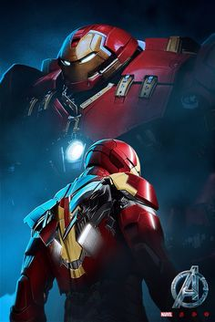 Iron Man and Hulk Buster Iron Man