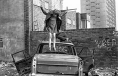 A link to Tish Murtha's website with images from the Youth Unemployment and Jazz Bands series and a few shots of kids playing out in the street in Elswick too, really like this one.