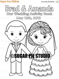 Personalized wedding colouring books for kids | Wedding ideas ...