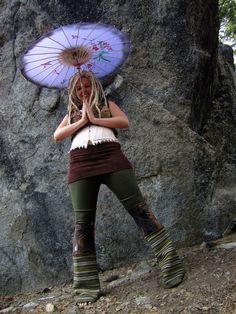 Tribal Dance Pants Forest Pixie Medium by IntergalacticApparel, $118.00
