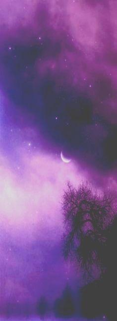 Purple Moonlit Night