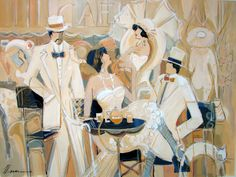 Women in Painting by Israeli Artist Isaac Maimon  Just love this