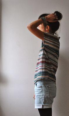 Coudre de façon raisonnée implique d'étudier sa garde-robe attentivement.   Et j'ai pu constater, que mes t-shirts avaient bien vieilli...