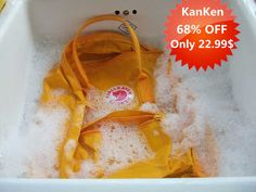 Washing my Kanken rucksack
