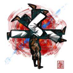 Encres : Capoeira – 540 [ #capoeira #digital #illustration]