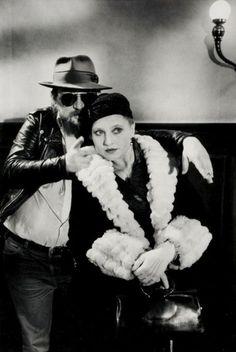 Rainer Werner Fassbinder and Hanna Schygulla, Berlin, ca 1980 -by Alfred Eisenstaedt