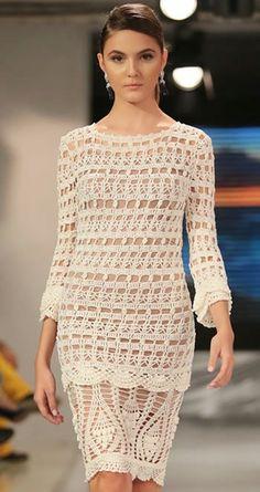 Crochetemoda. Dress