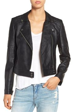 devlin 'Leon' Faux Leather Moto Jacket available at Riders Jacket, Moto Jacket, Motorcycle Jacket, Biker, Vegan Leather Jacket, Faux Leather Jackets, Coats For Women, Jackets For Women, Women's Jackets