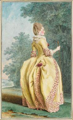 Hair reference film shoot 2/2012 view 21.  Carmontelle: Madame de Moracin, Musée Condé, Chantilly. 1776