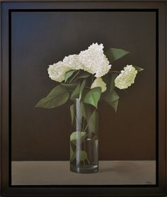 "Hydrangeas by Malcolm Rains 30"" x 36"" oil Meyer Gallery"