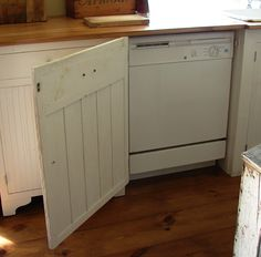 LOVE the old country kitchen with hidden modern secrets. The Country Farm Home: My Kitchen's Hidden Secrets