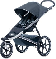 The Thule Urban Glide Stroller is a lightweight, easy-fold stroller that features rear suspension for a smooth ride. It comes with a large, waterproof storage compartment, making it ideal for jogs in the outdoors or to use in inclement weather.