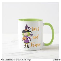 Witch and Famous Mug Halloween Cups, Create Your Own, Create Yourself, Favorite Color, Dinnerware, Coffee Mugs, Witch, Ceramics, Tableware