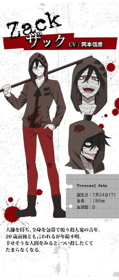 Angels Of Death Concept Art Zack Angelsofdeath Cosplayclass Anime