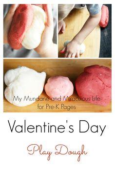 Valentine's Day Play Dough for preschool