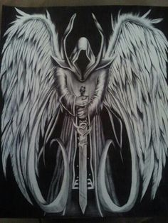 Angel of Death Tattoo idea to represent the life I was dealt to live. Everything I have ever believed was good for me, has turned out to be disastrous. Grim Reaper Art, Don't Fear The Reaper, Female Grim Reaper, Grim Reaper Tattoo, Tattoo Tod, Angel Of Death Tattoo, Angel Warrior Tattoo, Biomech Tattoo, Archangel Tattoo