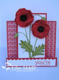 StampinOvation: Punched Poppies Centre Step Card