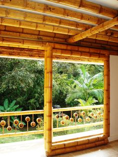 Bamboo Roof, Bamboo Poles, Bamboo Fence, Bamboo Building, Natural Building, Casa Bunker, Bamboo House Design, Natural Swimming Ponds, African House
