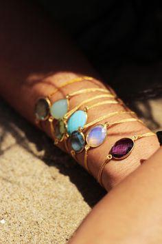 Gemstone bracelets at www.vidakush.com.