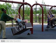 everyone should be able to swing - handicapped or not