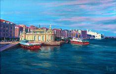 Santander, acrílico Landscapes, Watercolor, Portrait, Places, Illustration, Artists, Ink, Watercolor Painting, Portraits