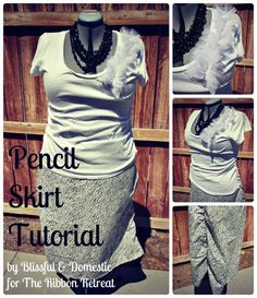 Learn how to make a pencil skirt with this easy tutorial. Add gathers to the sides for a fun twist!