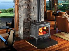 The Cape Cod is a hybrid of catalytic and non-catalytic technologies. Already in production, this cast-iron stove is 80 percent efficient and produces 0.45 grams per hour of emissions, making it the cleanest unit on the EPA's list of certified wood stoves. Preheated combustion air improves efficiency, while secondary air tubes and a catalytic combustor incinerate almost all remaining particulates.  Stove type and construction: Cast-iron, stand-alone Firebox size: Large Projected retail…