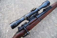 Deactivated Mauser Sniper Rifle - the infamous fitted with various scope configerations - Check this page for Deactivated Kar 98 Mauser Sniper Rifle! Weapons Guns, Guns And Ammo, M&p 9mm, K98, Closet Shoe Storage, 357 Magnum, Submachine Gun, Revolver, Shotgun