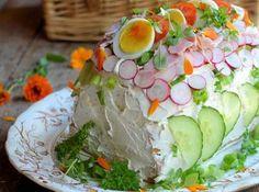 Swedish Sandwich Cake http://www.greatbritishchefs.com/community/swedish-savoury-sandwich-cake-recipe