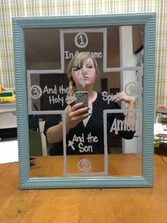 Look to Him and be Radiant: Teaching Prayer- Sign of the Cross Mirror Religion Activities, Teaching Religion, Religious Studies, Religious Education, Classroom Prayer, Classroom Ideas, Classroom Resources, Montessori, Prayer Signs