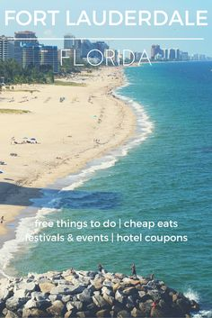 23 miles of beach, arts, and sports make sunny south Florida the perfect destination - Check out the destination guide to Ft. Lauderdale and other major U.S. cities by HotelCoupons.com