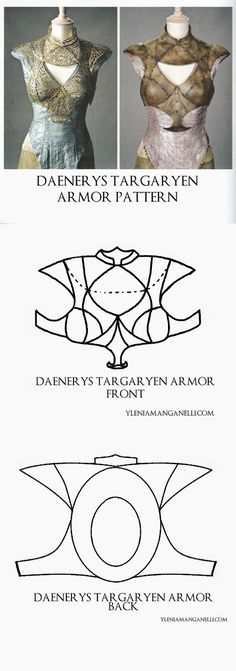 Princess & Dragon - Ylenia Manganelli : Daenerys Targaryen - Cosplay Costume - Cage/Armor Turorial and Resources (Pattern #7)