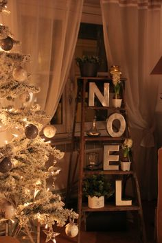 ...Stepladder Christmas display -