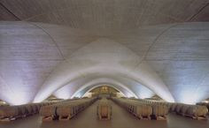 """james & mau architecture - Wine Cellars, Otazu Wineries """"underground"""" (Yes, it's a wine cellar but wouldn't that space make a terrific church!!)"""
