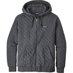 new arrival 6738f f49fc Patagonia - Organic Cotton Quilt Full-Zip Hoodie - Men's - Forge Grey Nike  Jacke