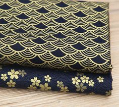 """2pcs 19.6"""" x 15.7"""" Japanese Cherry Blossom Cotton Fabric – Quilters Deals"""