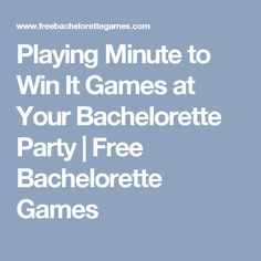 Playing Minute to Win It Games at Your Bachelorette Party | Free Bachelorette Games