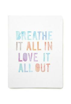 A another beautiful saying notebook