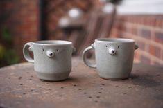 Incense Holder, Candle Holders, Green Bear, White Polar Bear, Zoo Keeper, Egg Holder, Cat Mug, Pottery Mugs, Afternoon Tea