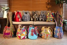 NEW! NEW! NEW! From Colombia to the UK...Discover our selection of Handmade Mochila bags !Now available at www.damijina.co.uk WORLDWIDE DELIVERY ! Bohemian Style, Fashion Accessories, Throw Pillows, Handbags, Wallets, Delivery, Crochet, Craft Bags, Hammocks