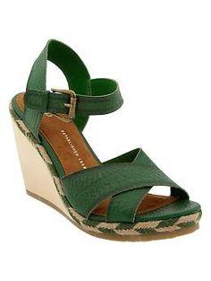 Spring/Summer shoes - Wooden crisscross wedges | Gap