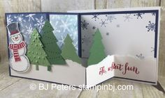 Snow PLace, Peaceful Pines, Stampin' Up!, BJ Peters, Tutorials