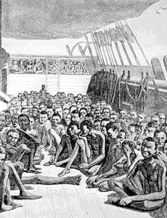 The image I chose for this assignment is a picture of slaves on a boat to the New World. The reason I picked this was because when reading Chapter 2, I could not believe the way they were treated. I was absolutely blown away at this, and not in a good way. Slaves were treated brutally on their journey.
