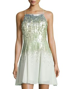 Sleeveless+Sequined+Dress,+Pistachio+by+Halston+Heritage+at+Neiman+Marcus+Last+Call.