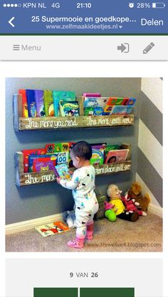 The Picket Fence Projects Babys Book Nook Thepicketfenceprojects - Baby bookshelves