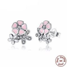 Sterling Silver Blossom Daisy Earrings