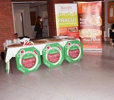 Stanowisko promocyjne Banolli - zdjęcie przedstawia jedną z niewielu chwil, kiedy nie było ruchu :-)  #banolli #foodevent
